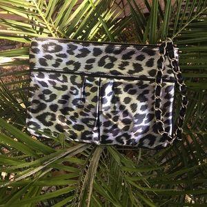 Adorable clutch wallet leopard express bag